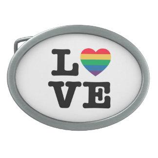 Love Heart Pride Belt Buckle