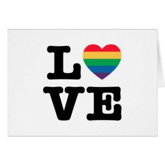 Love Heart Pride Greeting Card - Blank Inside