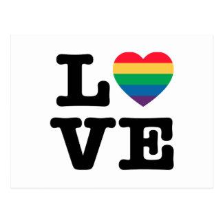 Love Heart Pride Postcard