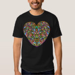 Love Heart Psychedelic Art Design Dark T-Shirt