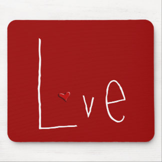 Love Heart red Mousepad