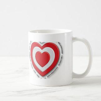 Love heart red coffee mug