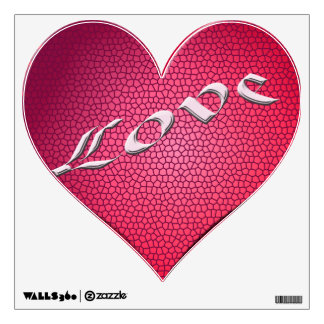 Love Heart red Wall Decal