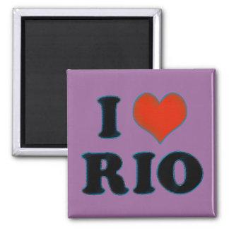 love / heart Rio de Janeiro 2 Inch Square Magnet
