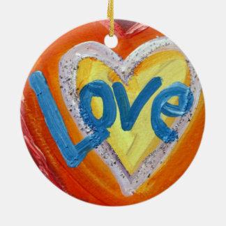 Love Heart Ripple Word Ornaments