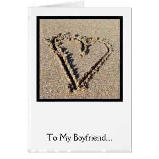 Love Heart Sand Valentine's Card