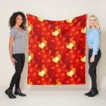 Love Heart Shape Fleece Blanket