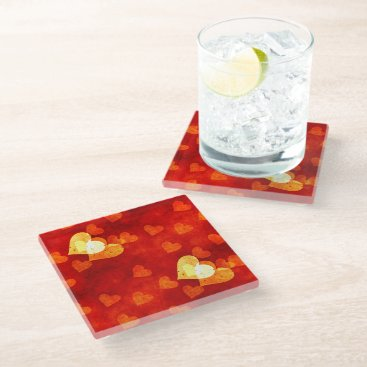 Love Heart Shape Glass Coaster