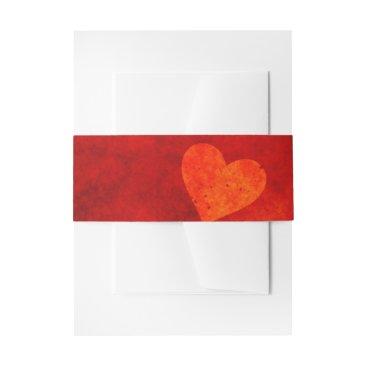 Love Heart Shape Invitation Belly Band