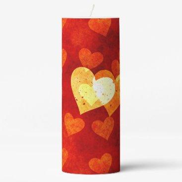 Love Heart Shape Pillar Candle