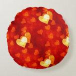 Love Heart Shape Round Pillow