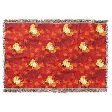 Love Heart Shape Throw Blanket