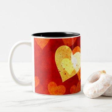 Love Heart Shape Two-Tone Coffee Mug