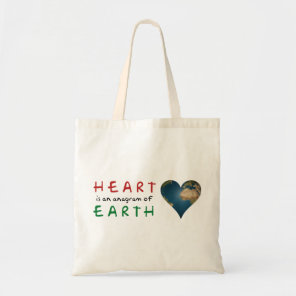 Love Heart shaped Earth Tote Bag