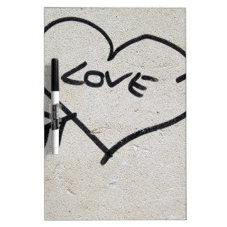 Love Heart sign Dry Erase Board