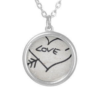 Love Heart sign Silver Plated Necklace