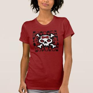 Love Heart Skull T Shirt