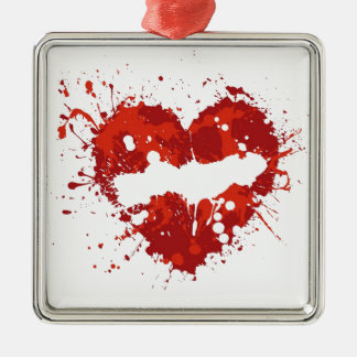 love  heart splash christmas ornaments