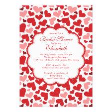 Love Heart Spring Bridal Shower Invitation