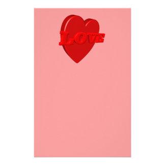 Love Heart Stationery