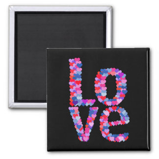 LOVE Heart Text Magnet