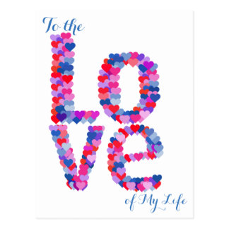 LOVE Heart Text Postcard