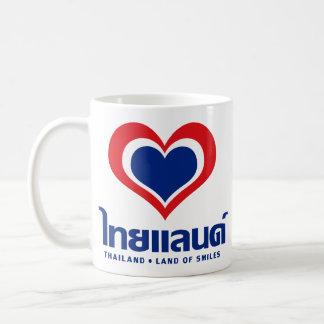 Love [Heart] Thailand ♦ Thai Language Script ♦ Coffee Mug