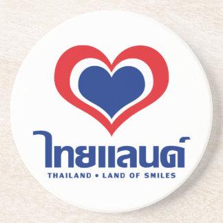 Love [Heart] Thailand ♦ Thai Language Script ♦ Drink Coaster