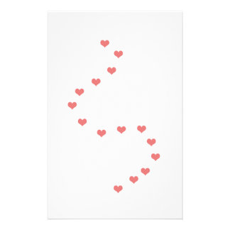 Love Heart Trails writing paper Personalized Stationery