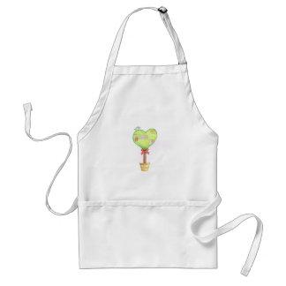 love heart tree design adult apron