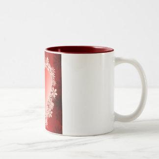 Love heart Two-Tone coffee mug