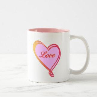 Love Heart Two Tone Mug