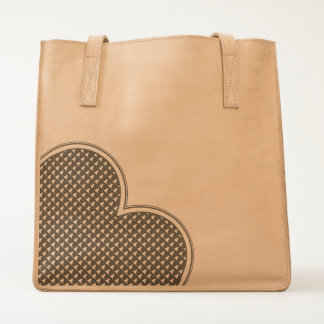 LOVE -Heart v3- Leather Tote