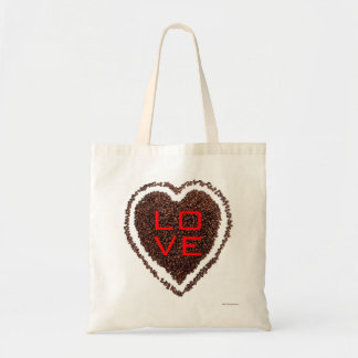 Love Heart Valentine Save the Date Coffee Bride Tote Bag