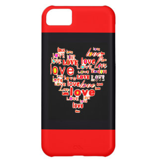 Love Heart Valentine's Day Save the Date Red Case For iPhone 5C