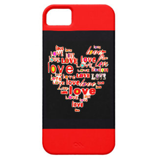 Love Heart Valentine's Day Save the Date Red iPhone SE/5/5s Case