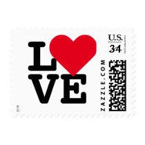 Love Heart Valentines Day Wedding Postage Stamp US