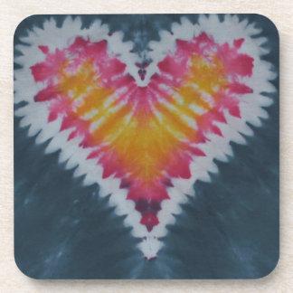 Love Heart Valentine's Tie Dye Beverage Coaster