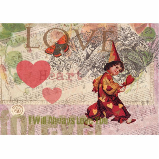 Love Heart Vintage Collage Photo Cut Out