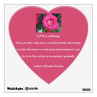 'Love' Heart Wall Decal