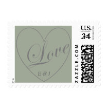 Love Heart Wedding Postage
