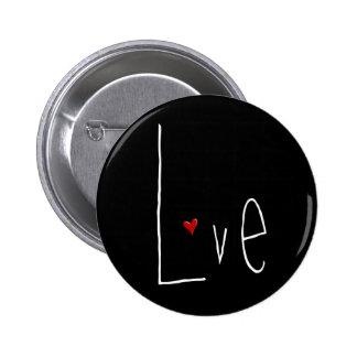 Love Heart white Button