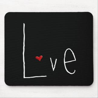 Love Heart white Mousepad
