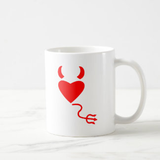 Love Heart with Devil Horns and Tail Coffee Mug