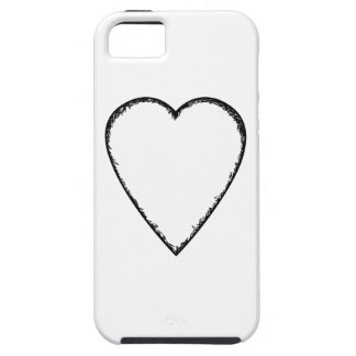 Love Heart with Scribble Edge. iPhone 5 Cases