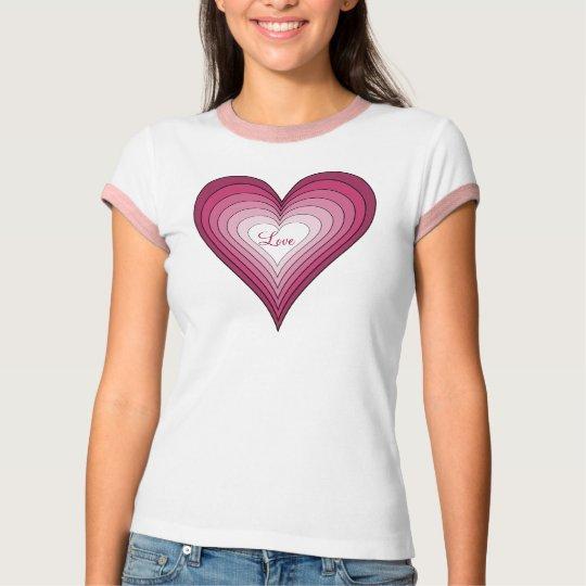 Love heart womens shirt