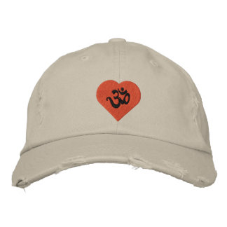 Love (Heart) Yoga Om Embroidered Cap