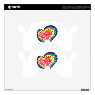 Love heart you are bias PS3 controller skin