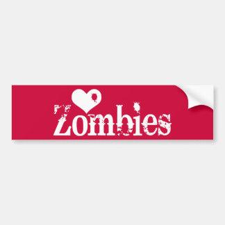 Love (Heart) Zombies Bumper Stickers