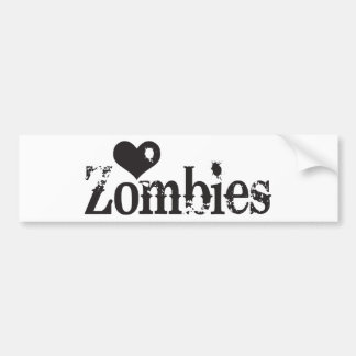 Love (Heart) Zombies Bumper Stickers